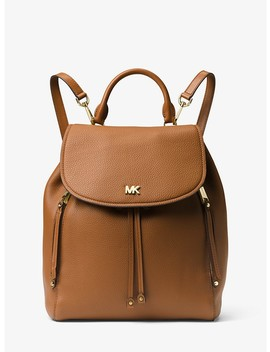 Evie Medium Leather Backpack by Michael Michael Kors