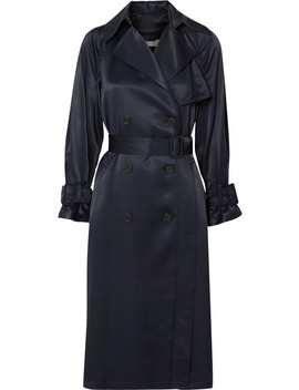 Satin Trench Coat by Vince