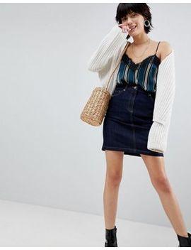 Warehouse 5 Pocket Raw Denim Mini Skirt by Warehouse