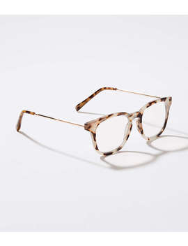 Metallic Arm Keyhole Reading Glasses by Loft