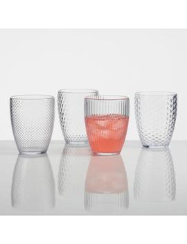 Small Clear Textured Acrylic Tumblers Set Of 4 by World Market