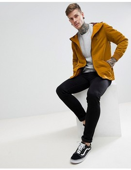 River Island Lightweight Jacket With Hood In Mustard by River Island