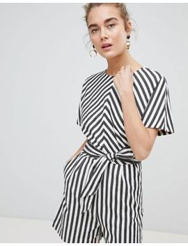 Warehouse Thick Stripe Romper by Warehouse