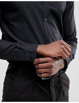 New Look Poplin Shirt In Regular Fit In Black by New Look