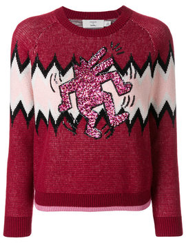X Keith Haring Zigzag Sweater by Coach