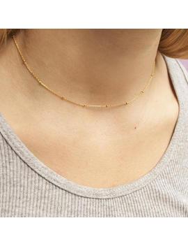 Gold   Dainty   Bead   Choker   Necklace   Satellite Necklace   Choker Necklace   Gold Choker   Layering   Gold Necklace   Minimal   M30370 by Etsy