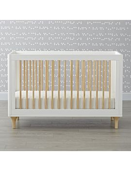 Babyletto Lolly White & Natural 3 In 1 Convertible Crib by Crate&Barrel