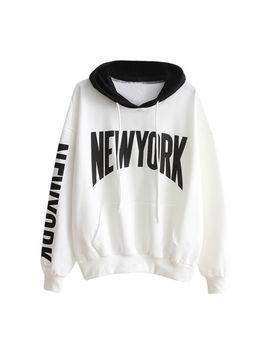 Women Lady Girl Long Sleeve Hoodie Sweatshirt Hooded Pullover Tops Blouse T Shirt by Unbranded