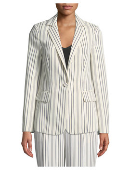 True Stripe One Button Blazer by Frame