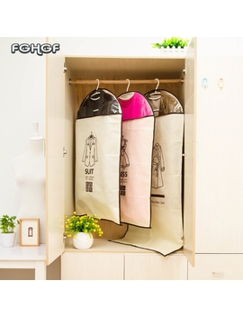 2018 Hanging Zipper Storage Bag Suit Dress Outer Dust Cover Cloth Bag Nonwoven Hanging Covers For Clothes Anti Dust Bag by World Trading Store