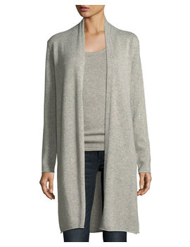 Metallic Cashmere Duster Cardigan by Neiman Marcus
