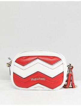 Valentino By Mario Valentino Red & White Chevron Cross Body Bag by Valentino By Mario Valentino
