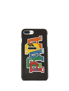 Saffiano Logo Patch I Phone 7 Plus Case by Prada
