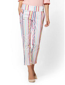 7th Avenue Pant   Multicolor Stripe Ankle   Modern by New York & Company