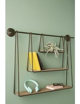 Tiered Wooden Shelving Unit by Anthropologie