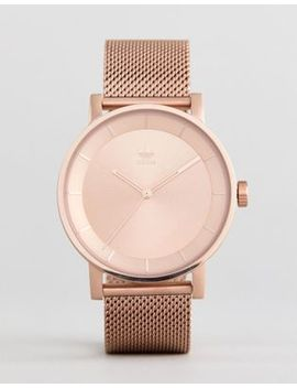Adidas Z04 District Mesh Watch In Rose Gold by Adidas