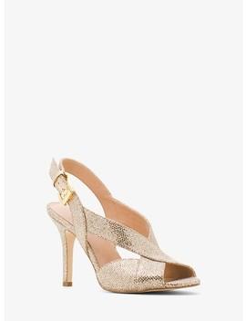 Becky Glitter Sling Back Sandal by Michael Michael Kors