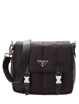 Prada Nylon & Leather Messenger by Prada