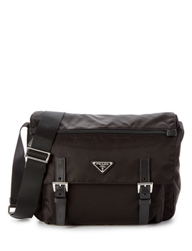 Prada Vela Two Pocket Messenger Bag by Prada