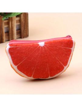 Hot Women Fruits Plush Coin Purse Zipper Bag Change Purse Wallect by Unbranded
