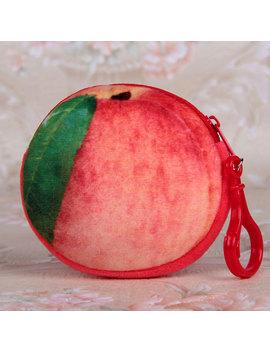 Fruit Coin Purse Girls Womens Kids Novelty Makeup Money Holder Bag Pouch by Unbranded