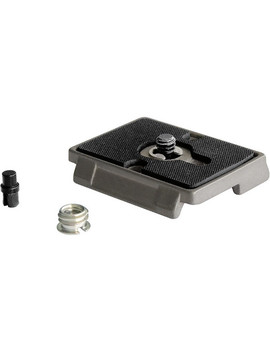 "200 Pl Quick Release Plate With 1/4"" 20 Screw And 3/8"" Bushing Adapter by Manfrotto"