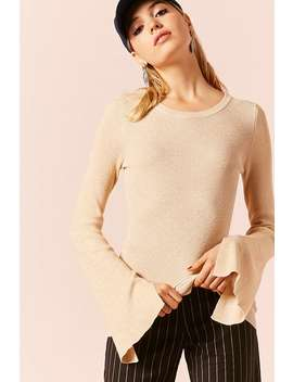 Metallic Sweater Knit Top by F21 Contemporary