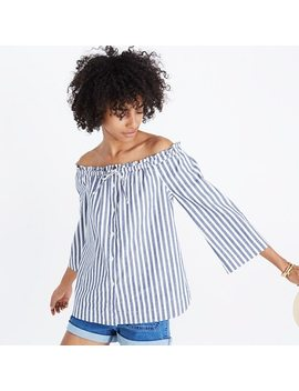 Shimmer Stripe Off The Shoulder Top by Madewell