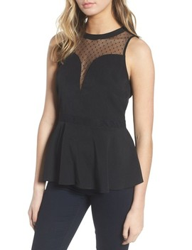 Dot Illusion Peplum Top by Chelsea28