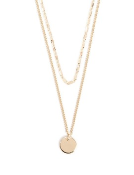 Layered Disc Pendant Necklace by Forever 21