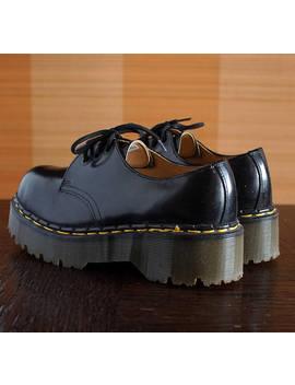 Dr Martens Black Platform Shoes Unique Made In England Vintage Shoes Docs Drmartens Grunge 90s Shoes Chunky Clubkid Platform by Etsy