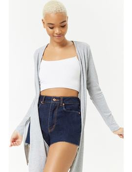 Open Front Side Slit Cardigan by Forever 21