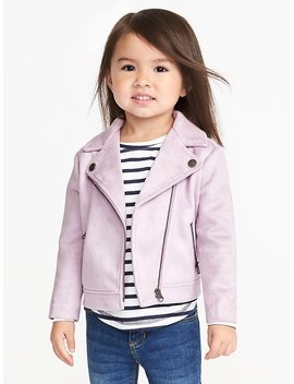 Sueded Moto Jacket For Toddler Girls by Old Navy