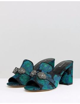 Carvela Brocade Mule With Jewels by Carvela