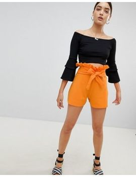 Pretty Little Thing Paper Bag Waist Shorts by Pretty Little Thing