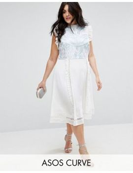 Asos Curve Premium Sleeveless Embroidered Dress by Asos Curve