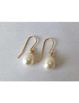 14ct Gold Filled Freshwater Pearl Drop Earrings. by Etsy