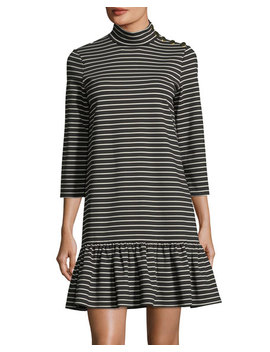 Mock Neck Stripe Knit Mini Dress by Kate Spade New York
