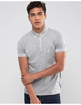 French Connection Short Sleeve Piping Polo Shirt by French Connection