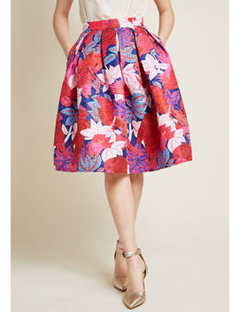 Off And Stunning Fit And Flare Skirt In S Off And Stunning Fit And Flare Skirt In S by Modcloth