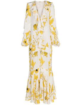 Spice Trade Silk Double Dress by Johanna Ortiz
