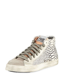Python Embossed High Top Sneaker by Neiman Marcus