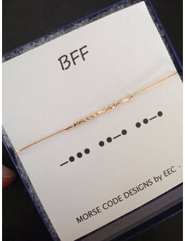 Set Of 2 14k Gold Filled Or Sterling Silver Bff Morse Code Necklaces, Best Friends, Friend Necklace, Customized Jewelry by Etsy