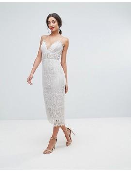 Asos Tall Lace Cami Midi Pencil Dress by Asos Tall