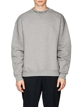 Flogho Logo Crewneck Cotton Sweatshirt by Acne Studios