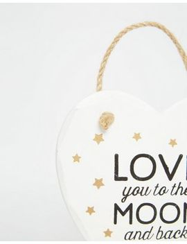 sass-&-belle-love-you-to-the-moon-and-back-plaque by asos