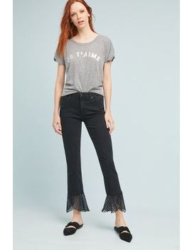 Paige Hoxton High Rise Cropped Straight Jeans by Paige
