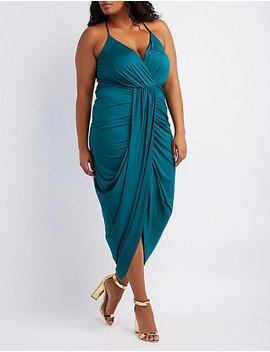 Plus Size Surplice Tulip Maxi Dress by Charlotte Russe