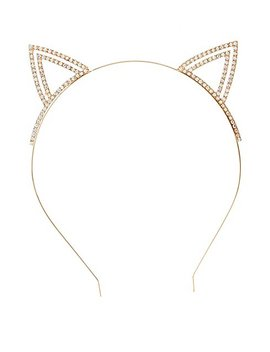 Rhinestone Cat Ear Headband by Charlotte Russe