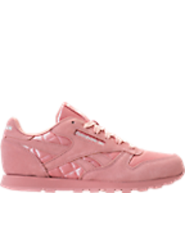 Girls' Grade School Reebok Classic Leather Satin Casual Shoes by Reebok